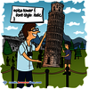 Pisa Tower CSS - Web Joke - CSS Puns and CSS Jokes