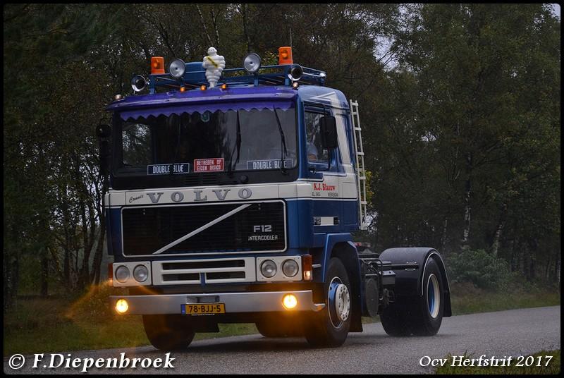 78-BJJ-5 Volvo F12 KJ Blauw-BorderMaker - Ocv Herfstrit 2017