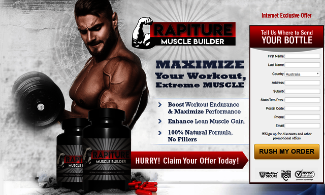 rapiture Ingredients used in Rapiture Muscle Builder: