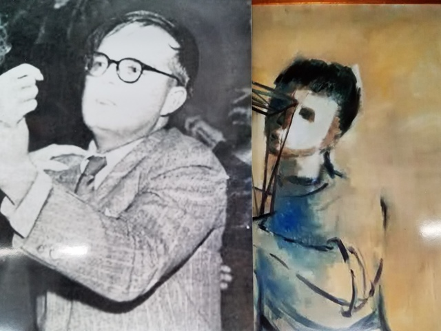 "Truman Capote Andy-Warhol ( Gold Thinker) Early 1960's Andy Warhol Painting--""A Gold Marilyn 'Comparable' Background. "" ""EVIDENCE RESEARCH WEBSITE"" Viewing Only"