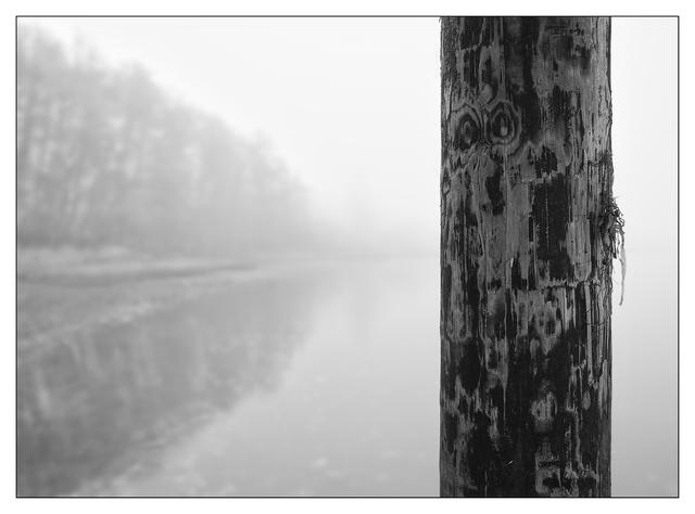 Foggy Beach 2017 7 Black & White and Sepia