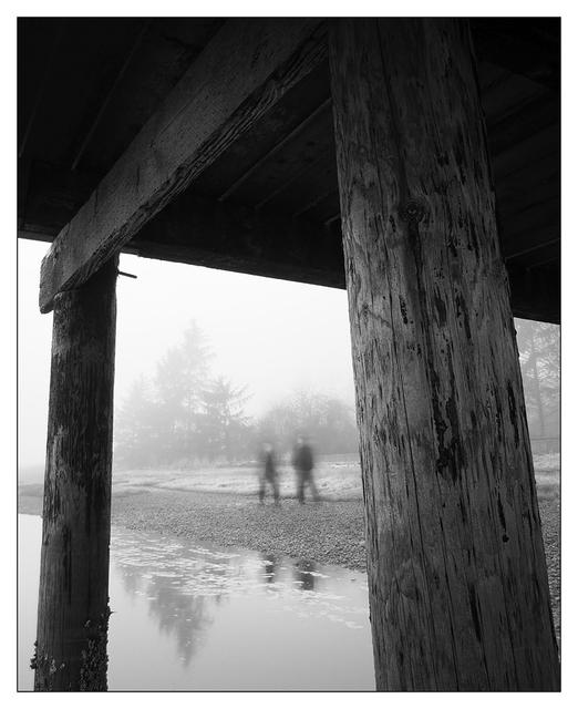 Foggy Beach 2017 4 Black & White and Sepia