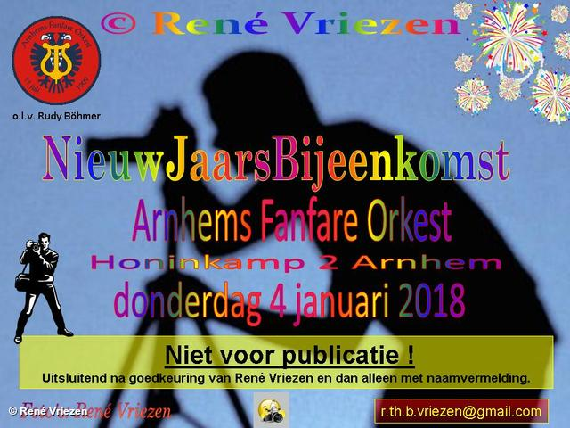 R.Th.B,Vriezen 20180104 000 Arnhems Fanfare Orkest Nieuwjaarsborrel donderdag 4 januari 2018