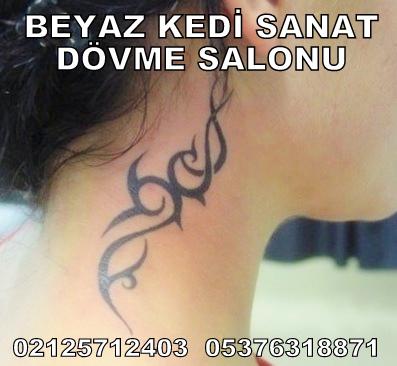 boyun dövmesi tribal dövme Bakırköy Dövmeci