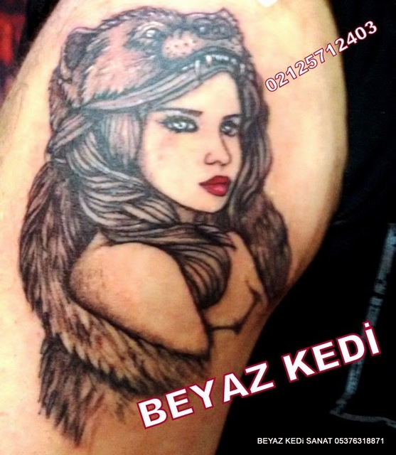 kurt başlı kız dövmeleri Dövme Salonu Bakırköy Dövmeci