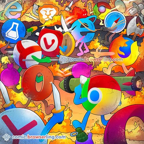 Browser Brawls - Web Joke Tech Jokes