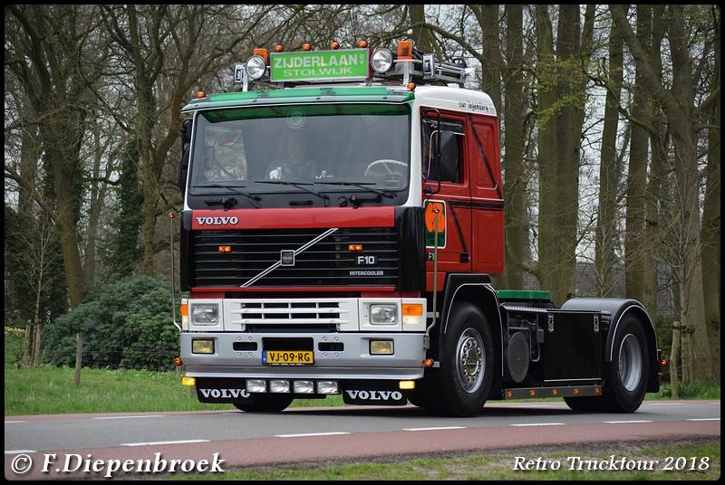 VJ-09-RG Volvo F10 Zijderlaan3-BorderMaker - Retro Truck tour / Show 2018