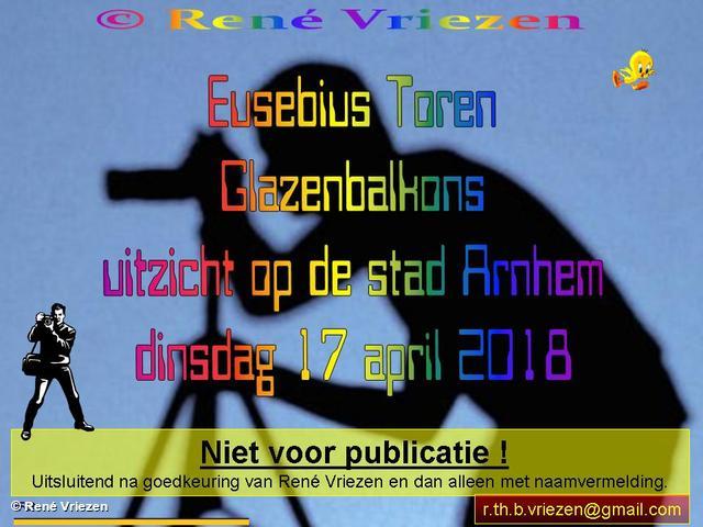R.Th.B.Vriezen 20180417 000 Eusebius Toren Glazenbalkons kijk op Arnhem dinsdag 17 april 2018