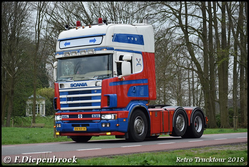 BN-NX-14 Scania 144L 530 Visch Doornspijk2-BorderM - Retro Truck tour / Show 2018