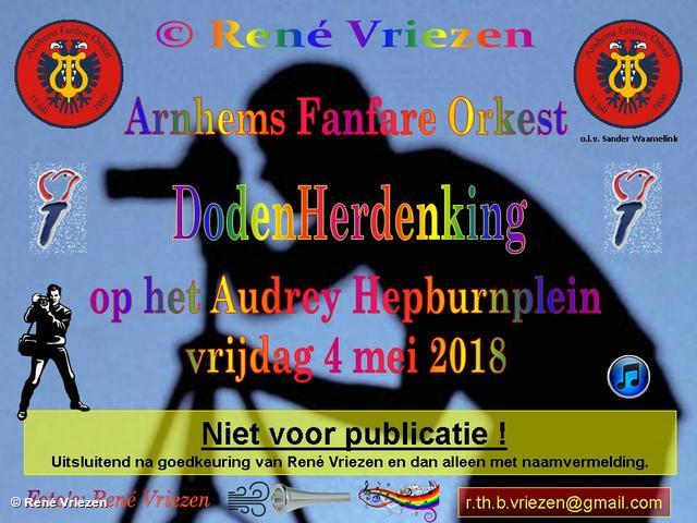 R.Th.B.Vriezen 20180504 000 Arnhems Fanfare Orkest DodenHerdenking Audrey Hepburnplein Arnhem vrijdag 4 mei 2018