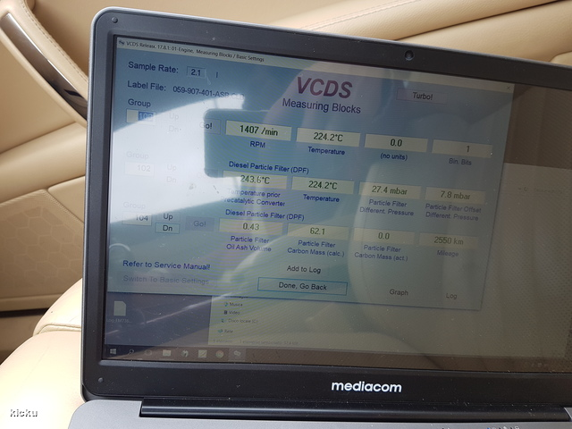 VWVortex com - DPF clogged, cleaning and readings from