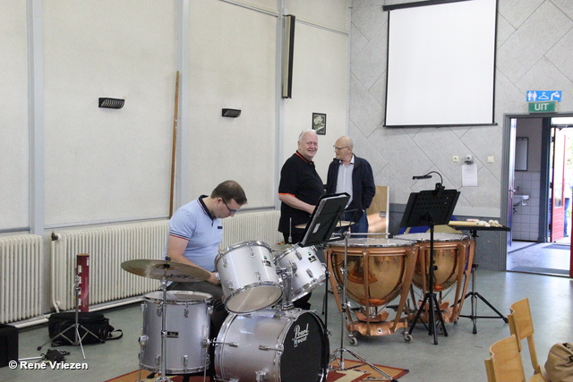 R.Th.B.Vriezen 20180517 004 Arnhems Fanfare Orkest Afscheid Piet en Marian Ventiel- SchuifTronbone donderdag 17 mei 2018