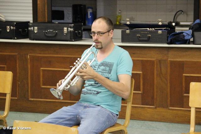 R.Th.B.Vriezen 20180517 006 Arnhems Fanfare Orkest Afscheid Piet en Marian Ventiel- SchuifTronbone donderdag 17 mei 2018