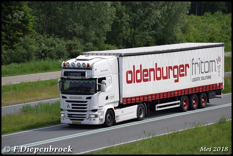 44-BKD-9 Scania R450 J Wijnholds-BorderMaker - 2018