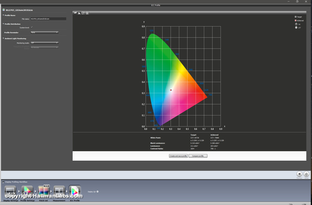 i1displayprocalib2018ViewsonicXG Hallman Labs 2018