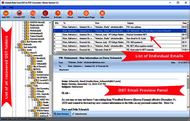 osttopstreview OST to PST Converter