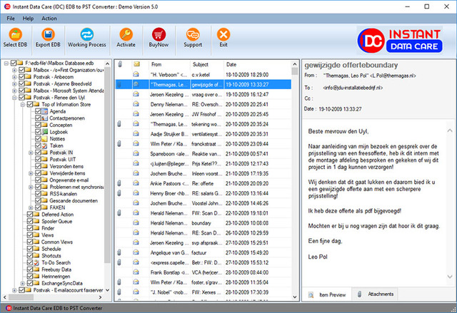 edbtopst-preview(2) EDB to PST Recovery Tool