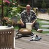 Ron en Houtduif 22-06-18 1 - In de tuin 2018