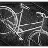 Bike Fence 2018 1 - Black & White and Sepia