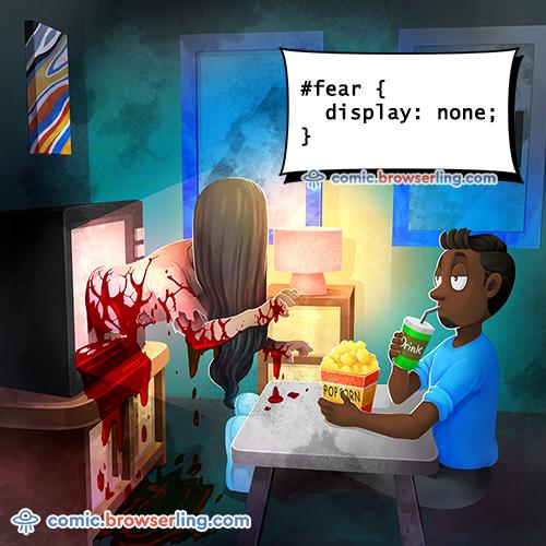Fear CSS Joke - Web Joke Tech Jokes
