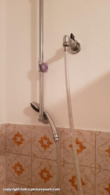 de douche zoals wij hem aantroffen Casa Teresa