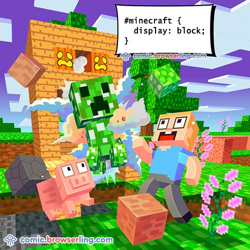 Minecraft - Web Joke Tech Jokes