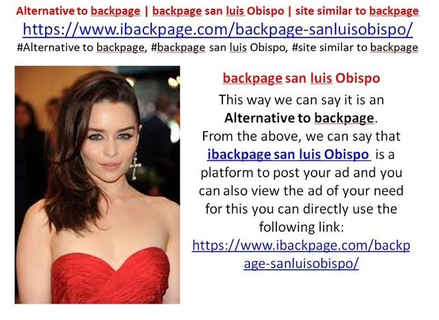 backpage san luis Obispo (1) backpage san luis Obispo