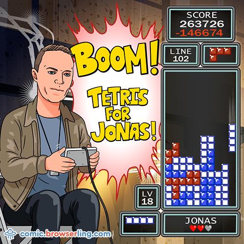 Boom, Tetris for Jonas! - Web joke Tech Jokes