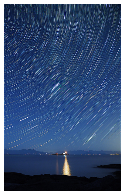 Entrance Island Star Trails 2018 b British Columbia Canada