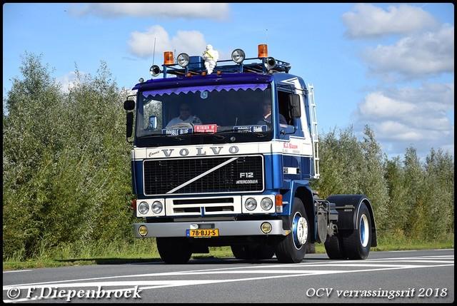 78-BJJ-5 Volvo F12 K J Blauw-BorderMaker OCV Verrassingsrit 2018