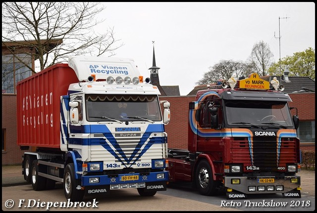 Scania 143 Ap Vianen - V.d Mark-BorderMaker Retro Truck tour / Show 2018