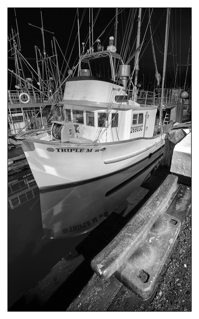 Comox Docks 2019 7 BW Black & White and Sepia