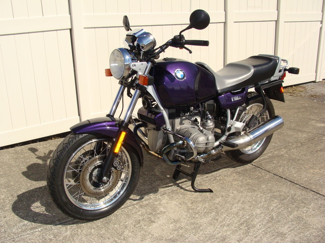 DSC01454 1992 BMW R100R, Purple. #0280286 VGC! Only 17,828 Miles!! Just completed BMW Factory Major Service (10K)++