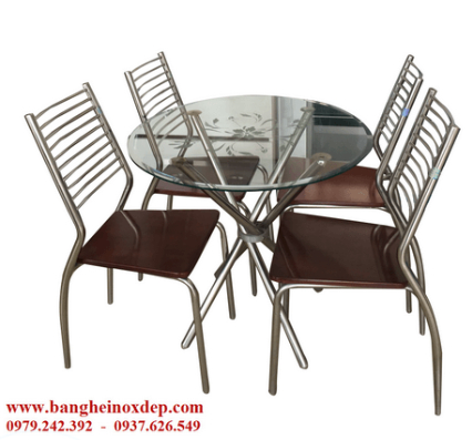 8 (2) Bán bàn ghế Inox đẹp