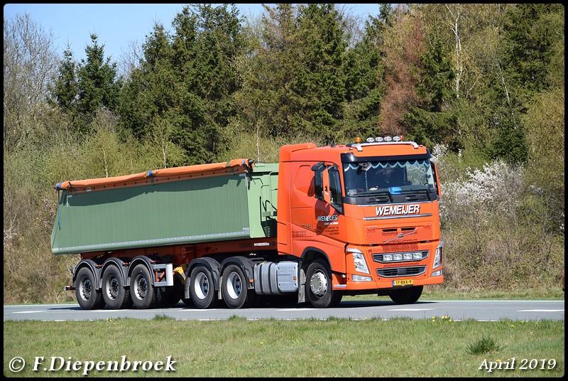 17-BKK-9 Volvo FH4 Wemeijer-BorderMaker - Rijdende auto's 2019