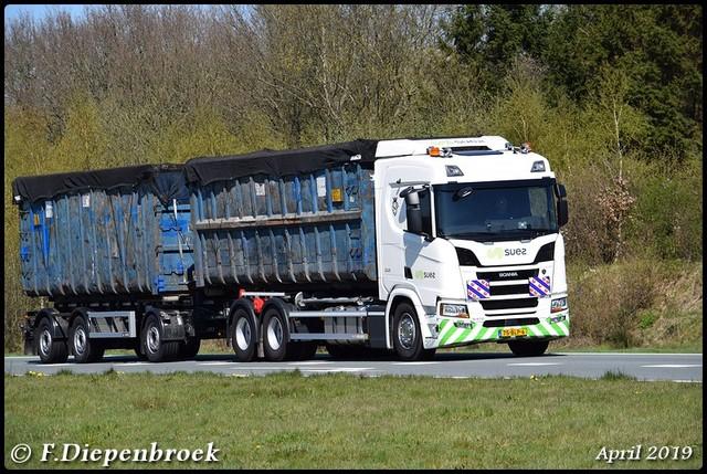 75-BLP-6 Scania R410 Suez-BorderMaker Rijdende auto's 2019