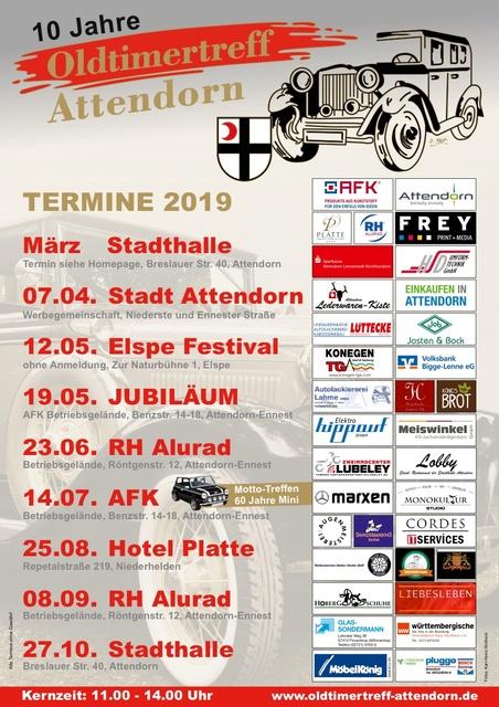 Oldtimertreff Plakat-Oldtimer-Stammtisch Termine 10 Jahre Oldtimertreff Attendorn powered by www.truck-pics.eu