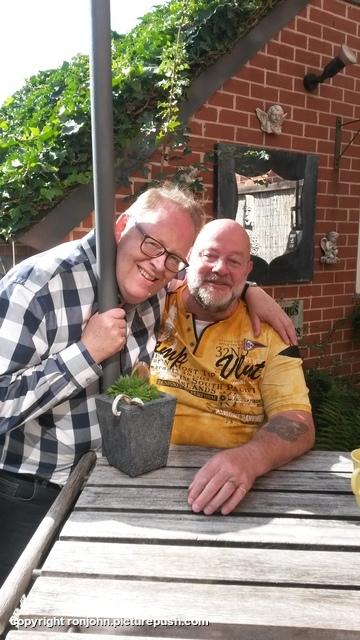 Hans Lellebel op bezoek 12-09-19 2 In de tuin 2019