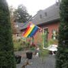 Regenboogvlag Coming out da... - In de tuin 2019