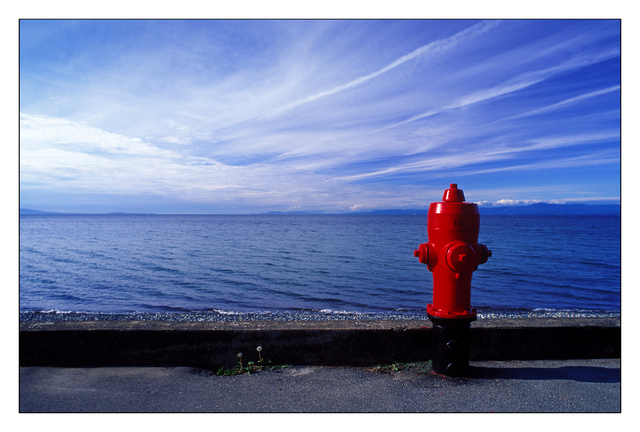 Qualicum Fire Hydrant 35mm photos