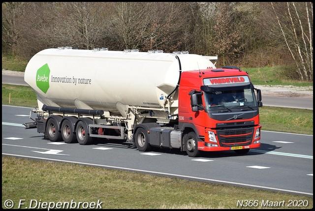 19-BHF-9 Volvo FH Vredeveld-BorderMaker 2020