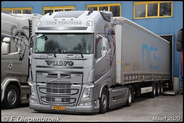 18-BKX-6 Volvo FH4 Jaks Trucking-BorderMaker 2020