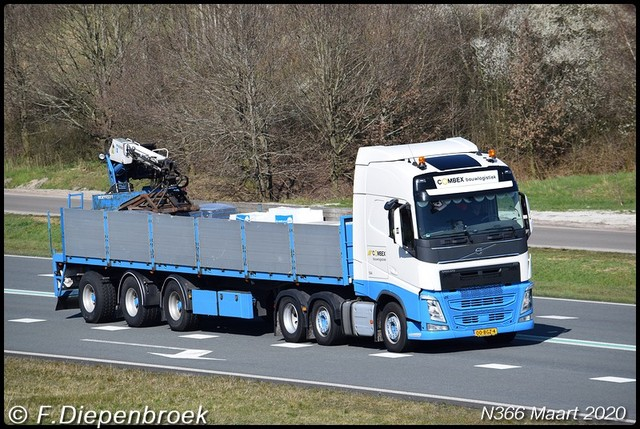 00-BGZ-4 Volvo FH4 Combex-BorderMaker Rijdende auto's 2020