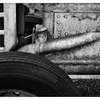 Country Market Tractor 11 - Black & White and Sepia