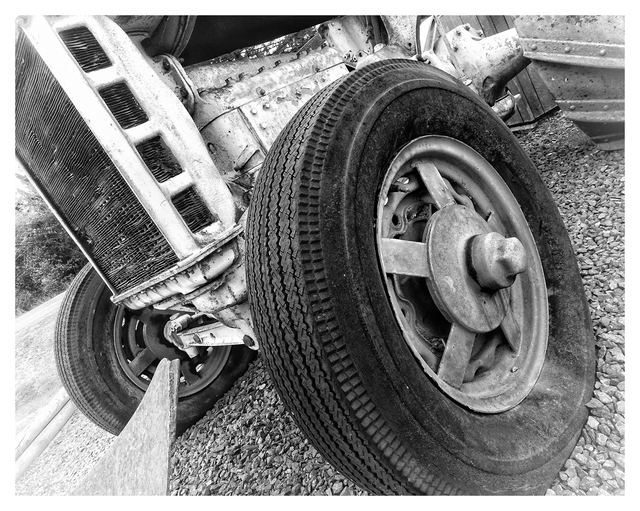 Country Market Tractor 5 Black & White and Sepia