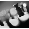 Chess Silhouette 2020 3 - Black & White and Sepia