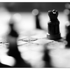 Chess Silhouette 2020 4 - Black & White and Sepia