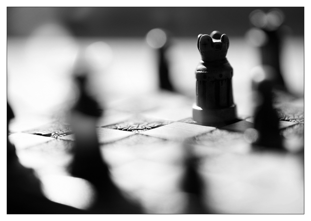 Chess Silhouette 2020 4 Black & White and Sepia