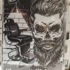 Barber shop wall art decora... - London artist