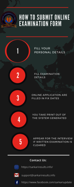How to Submit Online Examination Form sarkari Results